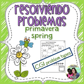 Spring Bilingual Word Problems - CGI type