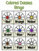 Spring Bingo for Colors, Letters and Numbers