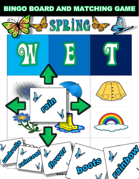 Spring Bingo / Matching Game w/ flashcards