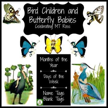 Spring Bird Children and Butterfly Babies Celebrating MT Ross