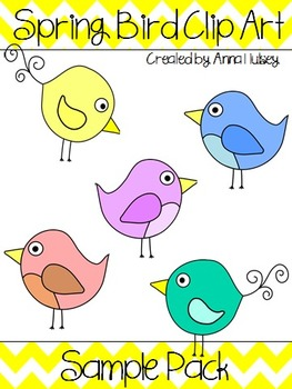 Spring Bird Clip Art Freebie (Graphics for Commercial Use)