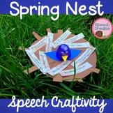Spring Bird Nest Speech Therapy Craft {articulation langua
