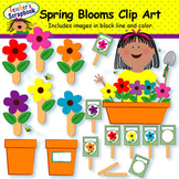 Spring Blooms Clip Art