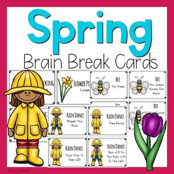 Spring Themed Brain Break Cards