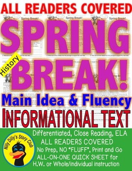 Spring Break FACTS Close Read 5 Level Passages Information