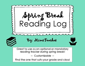 Spring Break Reading Logs
