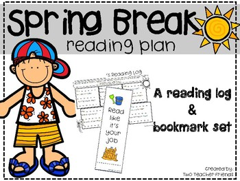 Spring Break Reading {bookmarks & reading logs}