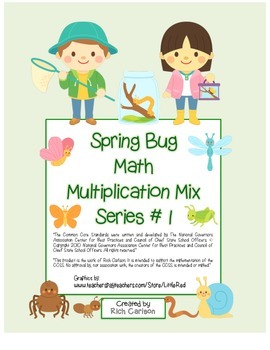"""""""Spring Bug Math"""" Mixed Multiplication Series #1 Common Co"""