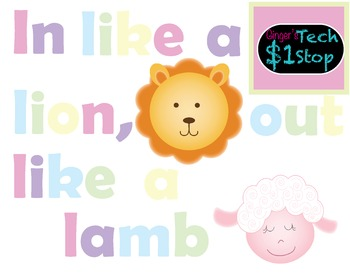 Spring Bulletin Board * In Like a Lion, Out Like a Lamb *