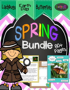 Spring Bundle -  Butterflies, Ladybugs, Earth Day