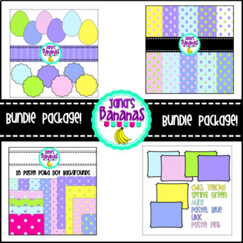 Spring Bundle Package {Borders, Backgrounds, Shape, Flower