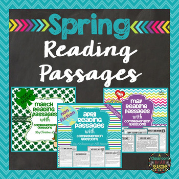 Spring Bundle: Reading Passages with Comprehension Questions