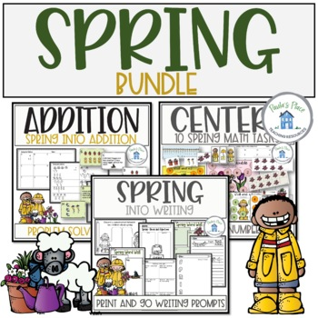 Spring - Bundle for Writing, Addition and Math