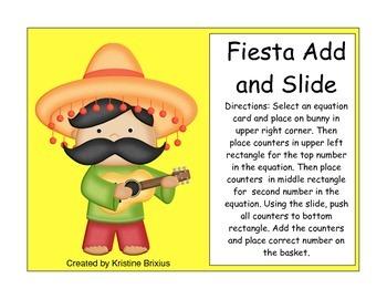 Fiesta Cinco de Mayo Themed Addition Scoop Math to 10