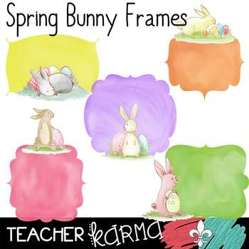 Spring Bunny Rabbit Frames **FREEBIE** ~ Watercolor ~ Comm