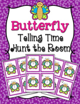 Spring Butterfly Time to the Hour Hunt the Room