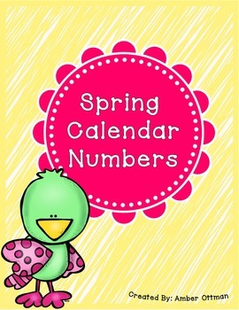 Spring Calendar Numbers (April and May)