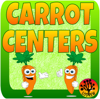 Carrot Centers Spring Activities Math and Literacy Centers