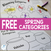 Spring Categories Cut Color and Glue Freebie