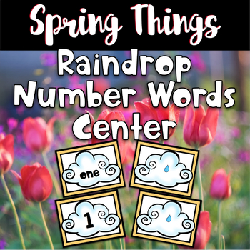 Spring Center - Raindrop Number Words
