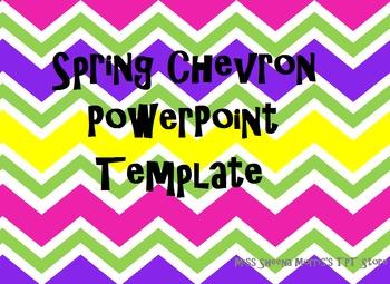 Spring Chevron PowerPoint Template