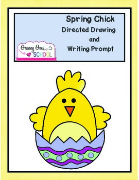Spring Chick Directed Drawing and Writing Prompt- Freebie