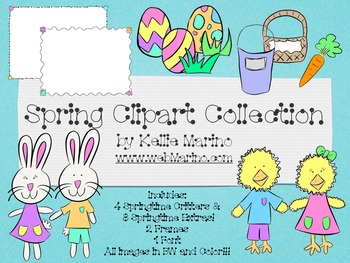 Spring Chicks and Bunny Clipart Collection