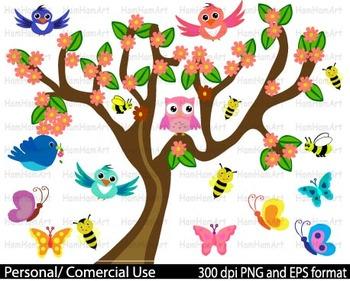 Spring Clip Art school pastel crayon bee butterfly baby ph