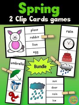 Spring - Clip Cards Bundle
