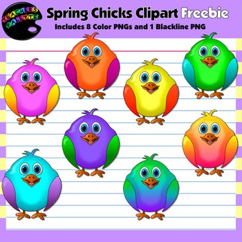 Spring Clipart Freebie--Chirping Chicks
