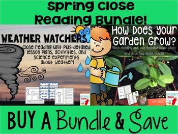 #springsavings Weather and Plants Spring Close Read Bundle