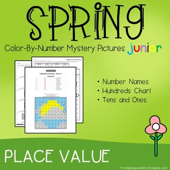 Spring Color-By-Number: Place Value (K-2)