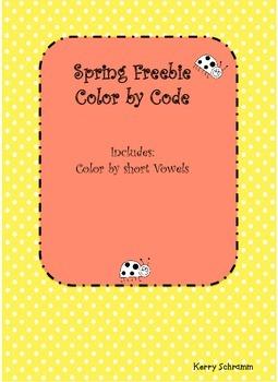Spring Color by Code: Short Vowels