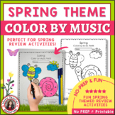 Spring Music Activities - Color by Music Symbol