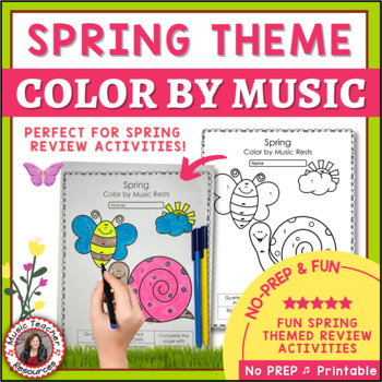 Spring Color by Music Symbol Activities