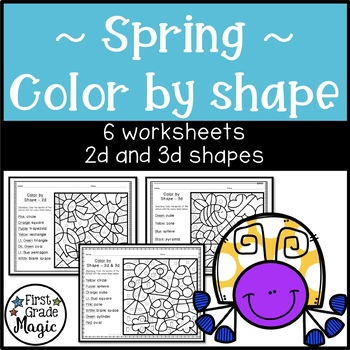 Spring Color by Shape - 2d and 3d
