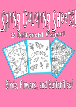 Spring Coloring Pages Set#1