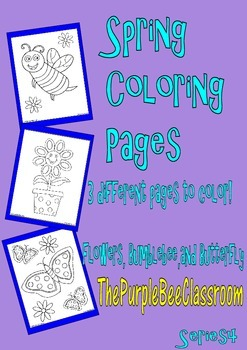 Spring Coloring Pages Set #4