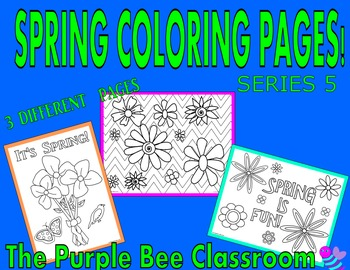 Spring Coloring Pages Set #5
