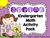 Spring Math Centers and Activities for Kindergarten