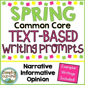 Spring Common Core Text Based Writing Prompts