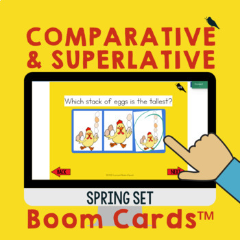 Comparative and Superlative Speech Therapy Grammar Cards: