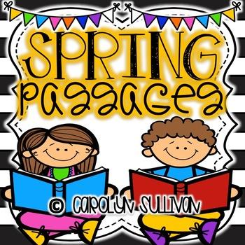 Spring Comprehension Passages for Kinder and First Grade
