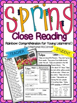 Spring Comprehension Passages for Young Learners-Close Rea