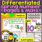 Spring Counting, Numbers Practice Pages 1-20: Differentiat