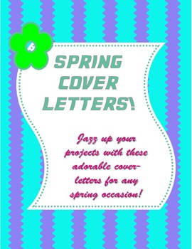 Spring Cover Letters Pages