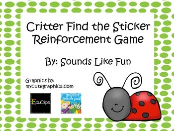 Reinforcement Game FREE: Spring Critters Find the Sticker