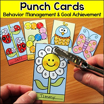 Spring Activities Punch Cards: Butterfly, Caterpillar, Lad