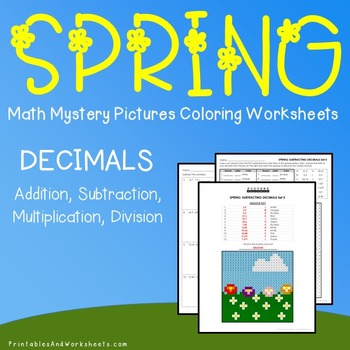 Operations with Decimals, Spring Decimals Mystery Pictures