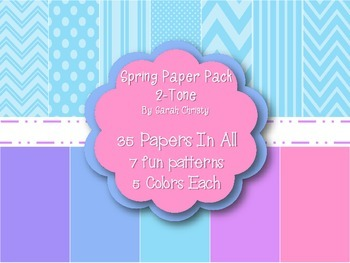 Spring Digital Paper Pack~2-Tone{Commercial Use OK}